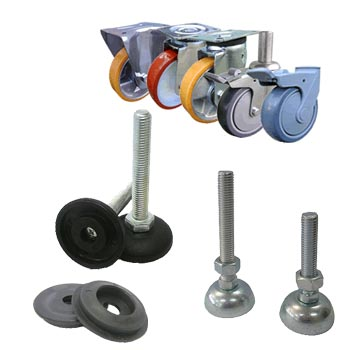 Feet, castors and accessories
