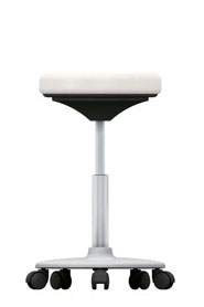 Stool with castors, 450 - 650 mm